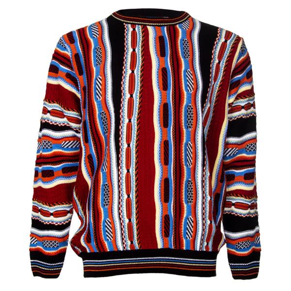 CASCALLO Deluxe Strickpullover Edler Rundhalspullover Angelo Jacquard Pullover Online Shop